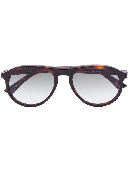 Brązowe okulary z akrylu Kirk Originals