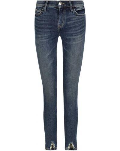 Укороченные джинсы скинни с эффектом потертости Current/elliott