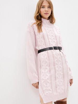 Розовое зимнее платье Goldrai