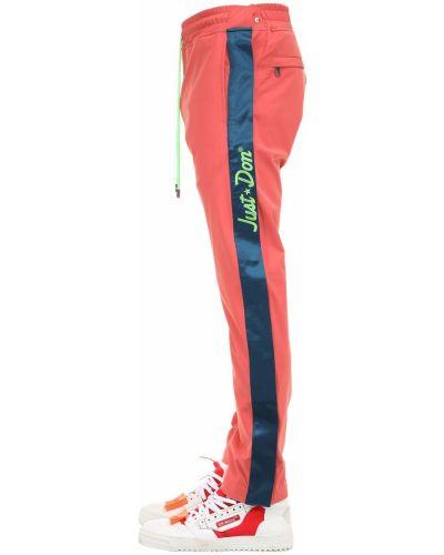 Spodnie z haftem z nylonu Just Don