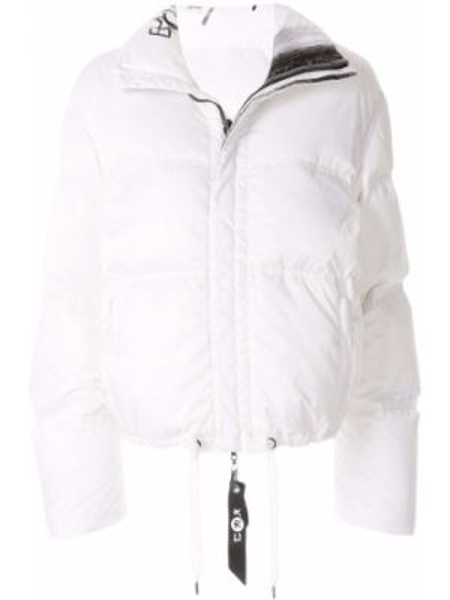 Белая куртка двусторонняя на молнии с воротником Kru