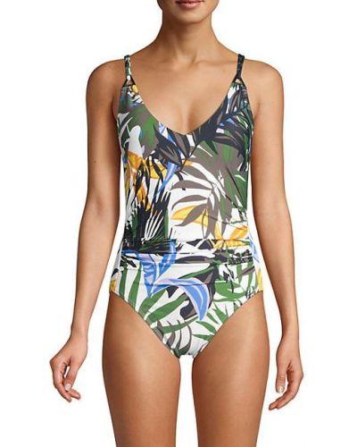 Нейлоновый зеленый купальник с подкладкой Calvin Klein