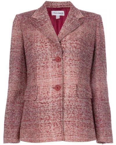 Удлиненный пиджак на пуговицах букле винтажный Pierre Cardin Pre-owned