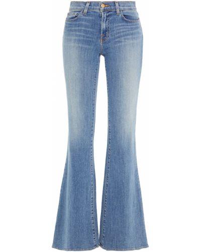 Хлопковые расклешенные синие джинсы J Brand