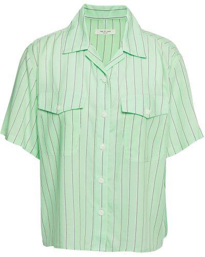 Zielona koszula w paski Rag & Bone