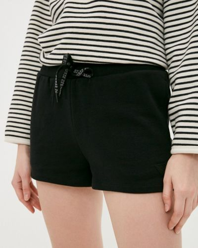 Повседневные черные джинсовые шорты Guess Jeans