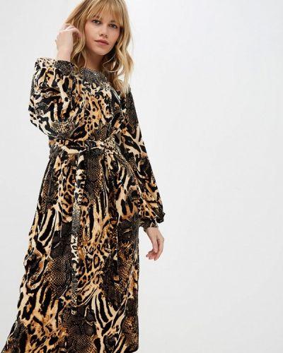 Платье осеннее бежевое Irina Vladi