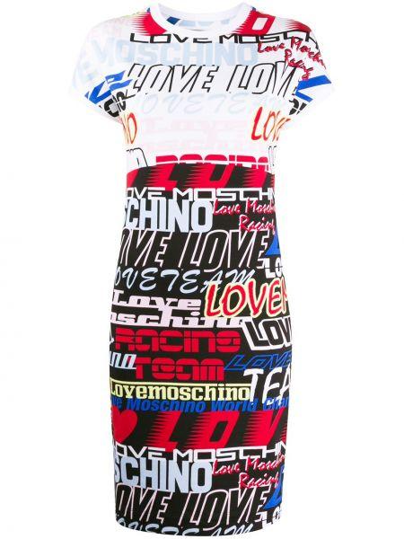 Облегающее платье мини - белое Love Moschino
