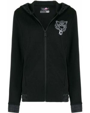 Черное спортивная куртка с манжетами Plein Sport
