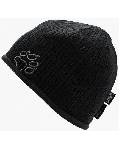 Черная шапка осенняя Jack Wolfskin
