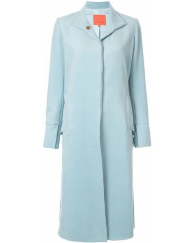 Синее пальто классическое с капюшоном с воротником Manning Cartell