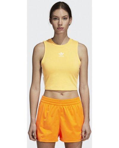 Желтая майка Adidas Originals