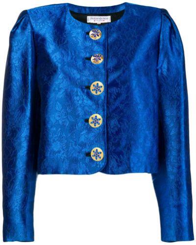 Пиджак длинный - синий Yves Saint Laurent Vintage