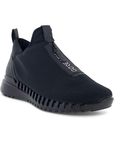 Черные кроссовки на молнии Ecco