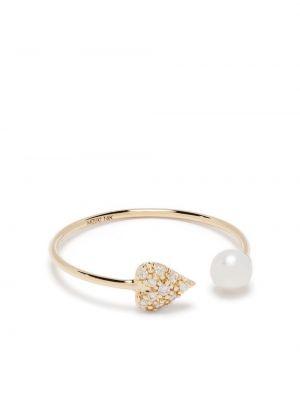 Żółty złoty pierścionek z diamentem Mizuki