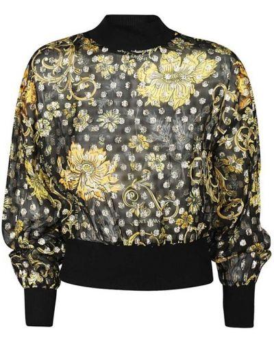 Czarny t-shirt oversize Versace Jeans Couture