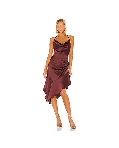 Платье мини с декольте с драпировкой Parker Black