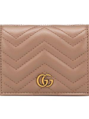 Codziennie różowy portfel skórzany z prawdziwej skóry Gucci