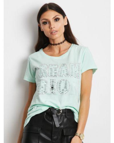 T-shirt bawełniany miejski na plażę Fashionhunters