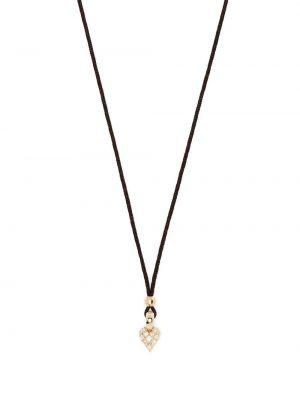 Żółty złoty naszyjnik łańcuch z diamentem Mizuki