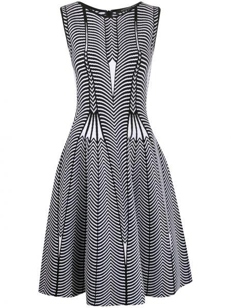 Черное расклешенное платье миди без рукавов с вырезом Antonino Valenti