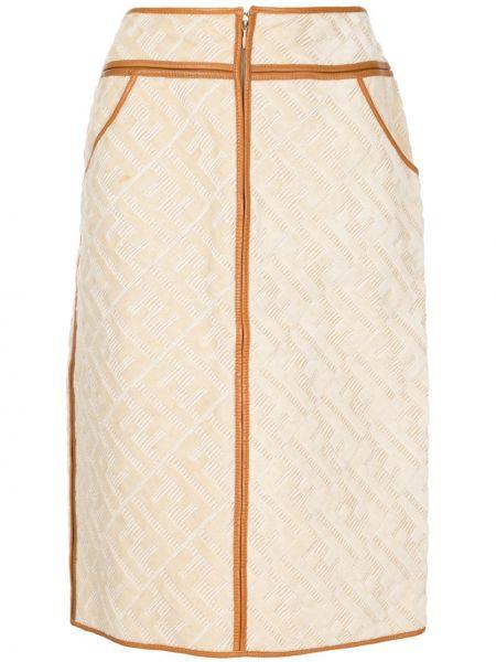 Юбка с завышенной талией с карманами Fendi Pre-owned