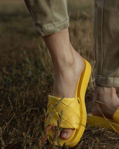 Желтые туфли летние Stefaniya Nina