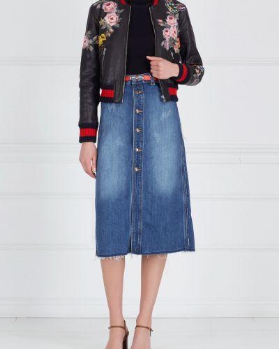 Юбка миди джинсовая на пуговицах Mo&co
