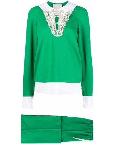 Zielony dres bawełniany sznurowany Seen Users