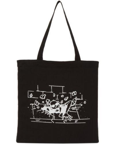 Czarna torba na ramię srebrna z haftem Perks And Mini