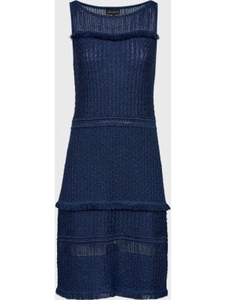 Синее платье из вискозы Luisa Spagnoli