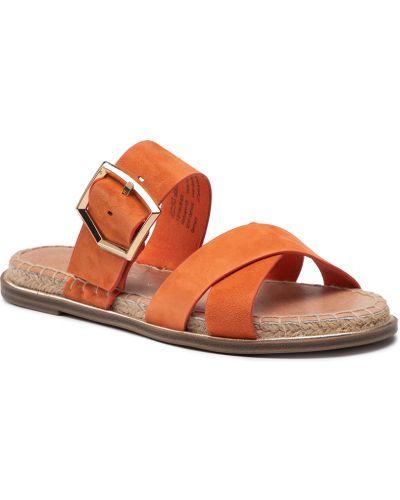 Sandały espadryle - pomarańczowe Tamaris