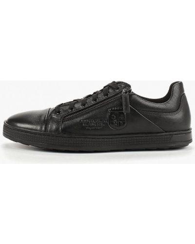 Низкие кеды черные кожаный Id! Collection