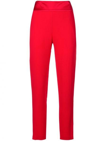 Красные брюки с карманами с высокой посадкой на молнии Michelle Mason