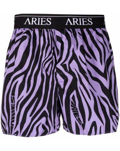 Ватные малиновые хлопковые боксеры Aries
