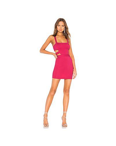 Платье мини розовое облегающее Nbd