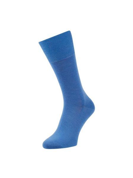 Niebieskie skarpety wełniane Falke
