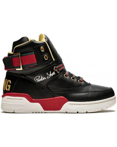 Черные кроссовки на каблуке Ewing