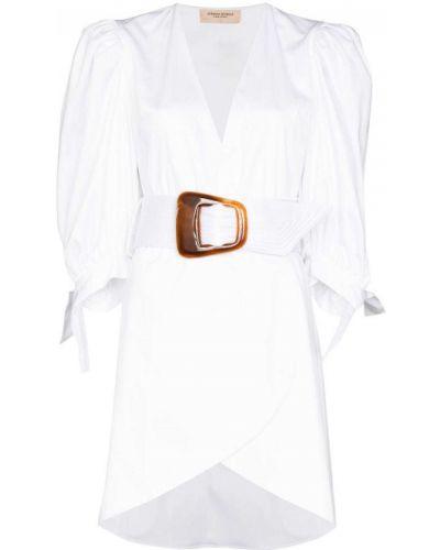 Хлопковое платье мини - белое Adriana Degreas