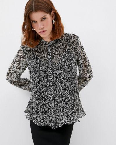 Черная блузка с длинными рукавами Calvin Klein