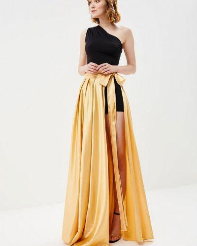 Платье весеннее желтый Mirasezar