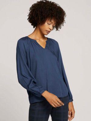 Блузка с длинными рукавами - синяя Tom Tailor