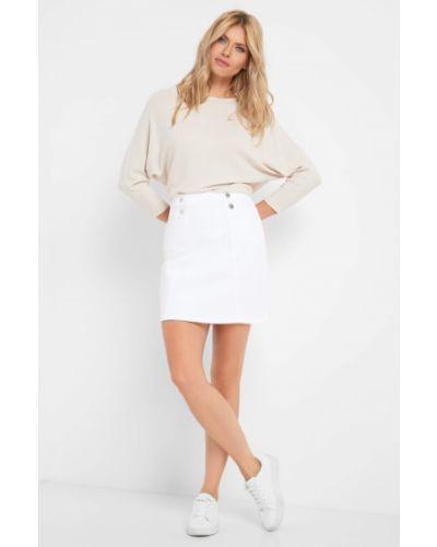 Biały bawełna spódnica mini z kieszeniami Orsay