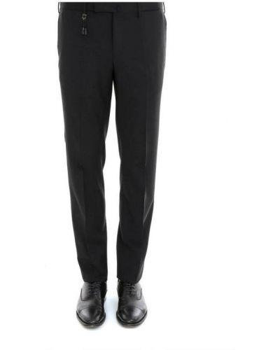 Czarne spodnie Incotex