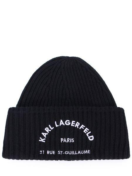 Вязаная шапка - черная Karl Lagerfeld