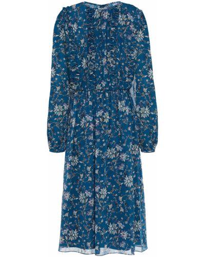Шифоновое платье на крючках Mikael Aghal