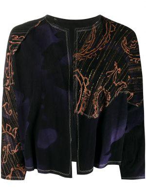 Фиолетовый кожаный пиджак винтажный A.n.g.e.l.o. Vintage Cult