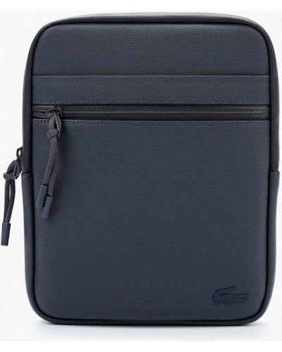 Синяя сумка через плечо Lacoste