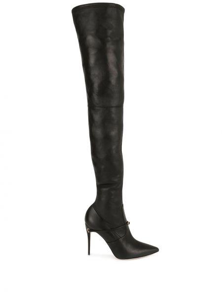 С ремешком черные ботинки на каблуке на каблуке Jennifer Chamandi