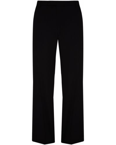 Укороченные брюки черные с карманами Prada